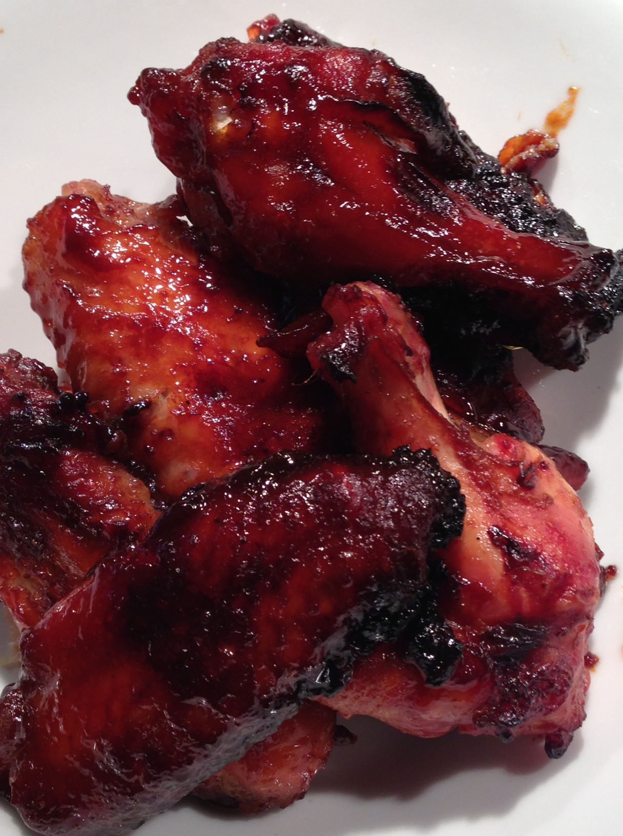 4lbs Buffalo Style Chicken Wings 3t Hoisin Sauce C Sesame Oil 2t Garlic Powder 2t Brown Sugar 2t Raw Honey C Sweet Vermouth C Light Soy Sauce